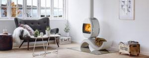 Stufa a legna di design moderno Parma